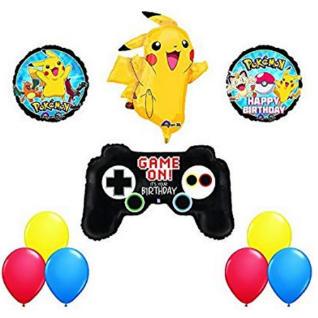 POKEMON GO Game REMOTE Controller WITH  PIKACHU XL Birthday Party Balloons Decoration