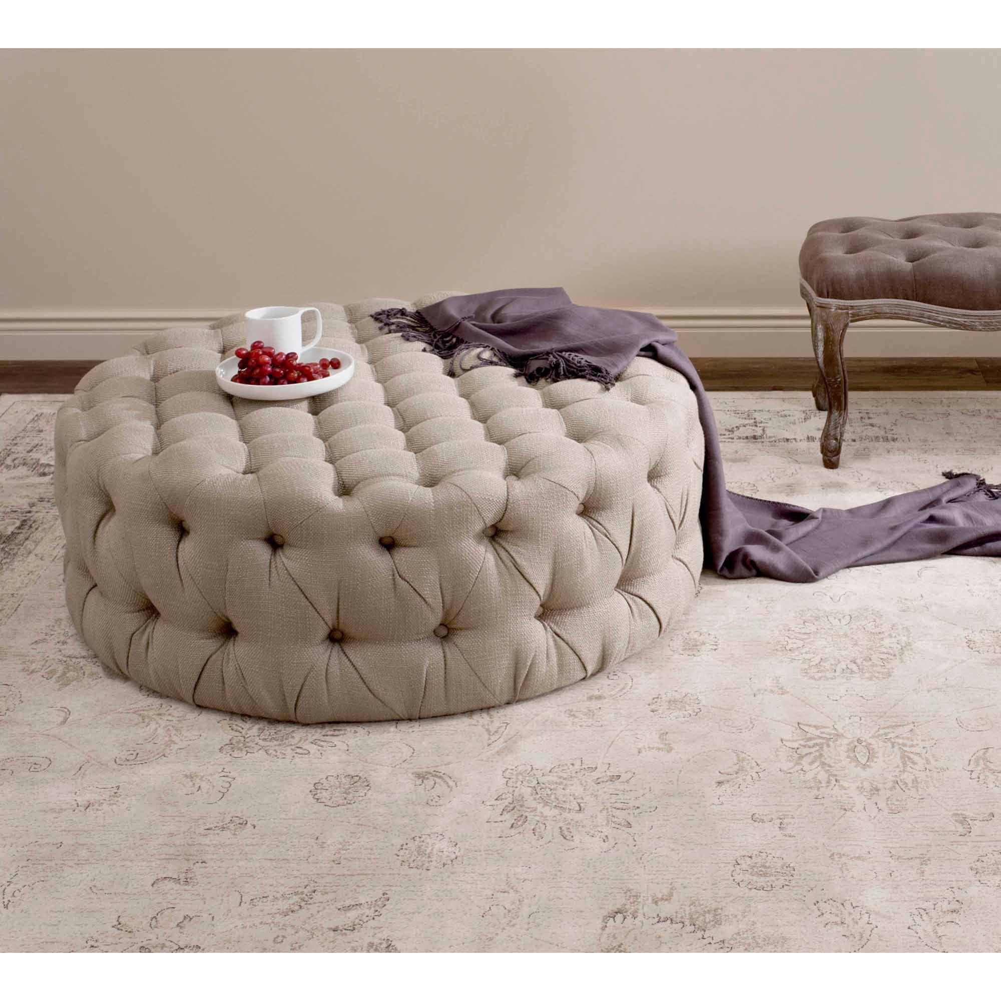 Safavieh Charlene Upholstered Ottoman, Multiple Colors