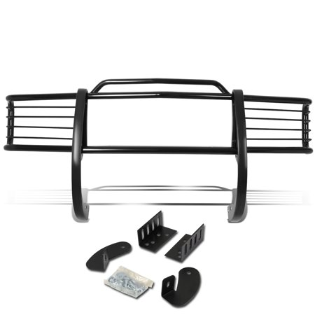 For 1988 to 1999 Chevy / GMC C / K C10 Suburban / Tahoe / Yukon Front Bumper 1 -Piece Brush Grille Guard (Black) 89 90 91 92 93 94 ()