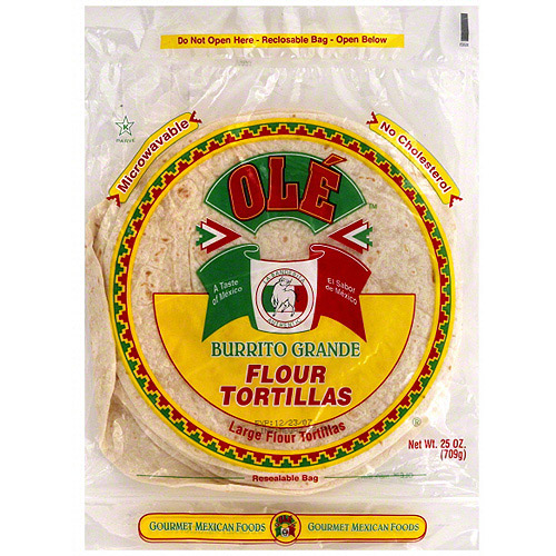 Ole Burrito Grande Tortillas, 25 oz (Pack of 12)