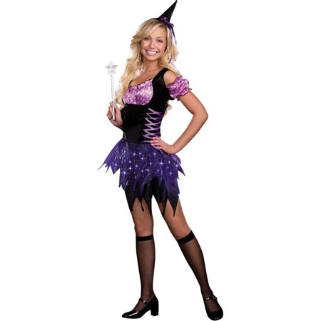 Morris costumes RL7013JXS Switch Witch Jr Xs - Switch Witch Light Up Halloween Costume