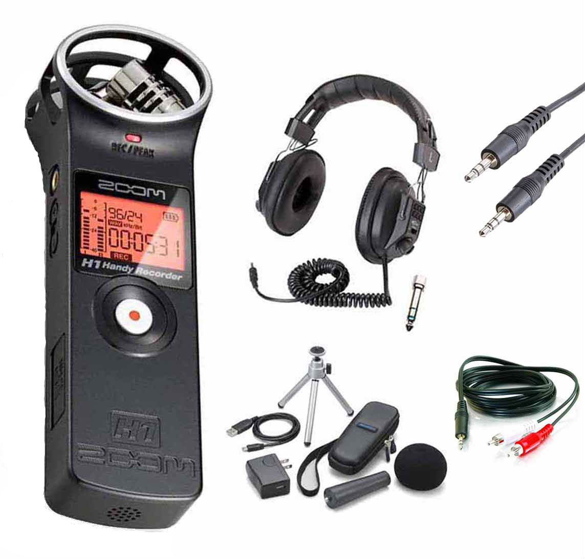 ZOOM H1 Digital Recorder Bundle with Zoom APH-1 Accessory...