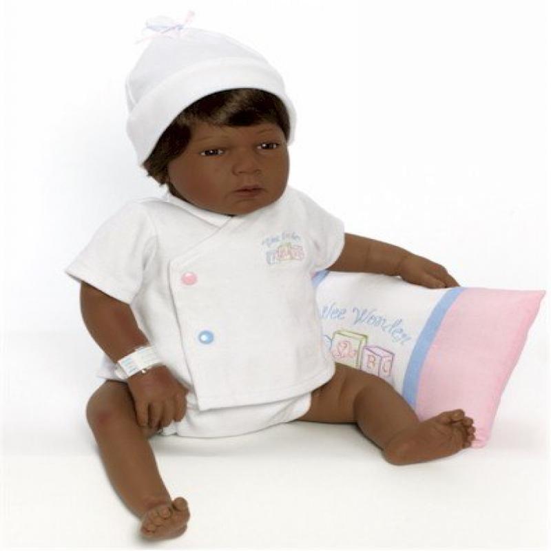"""Lee Middleton Newborn Nursery - 19"""" Sleepy Head Brown/Brown"""