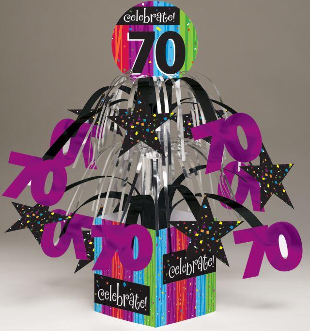 Access Milestone Celebrations 70th Birthday Mini Cascase Centerpiece, 1 Ct