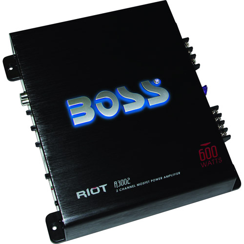 BOSS Audio R3002 RIOT Series 600W Mosfet Power 2-Channel Amplifier