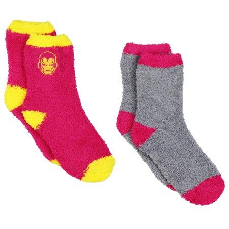 Marvel Comics Avengers Iron Man Womens 2 pack Cozy Socks (Teen/Adult) - The Avengers Women