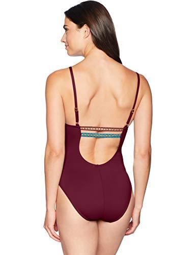 La Blanca Womens V-Neck One Piece Swimsuit One-Piece Swimsuit