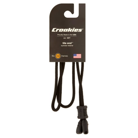 Croakies: Tite End Eyewear Adjustable Black Retainers, 1 Ct