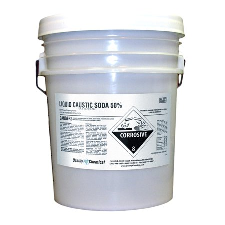 Sodium Hydroxide (Caustic Soda Liquid)  50%  NaOH - 5 gallon pail Degreaser 5 Gallon Pail