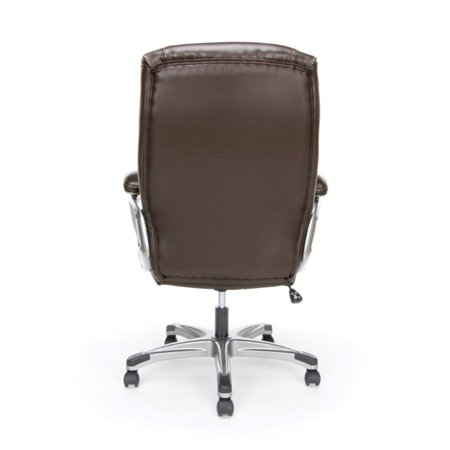 Scranton & Co Ergonomic High Back Leather Office Chair in Brown - image 1 of 5