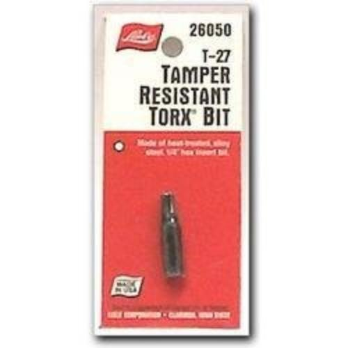 Lisle 26030 1 4in. Hex Tamperproof Torx Bit T-20 by Lisle