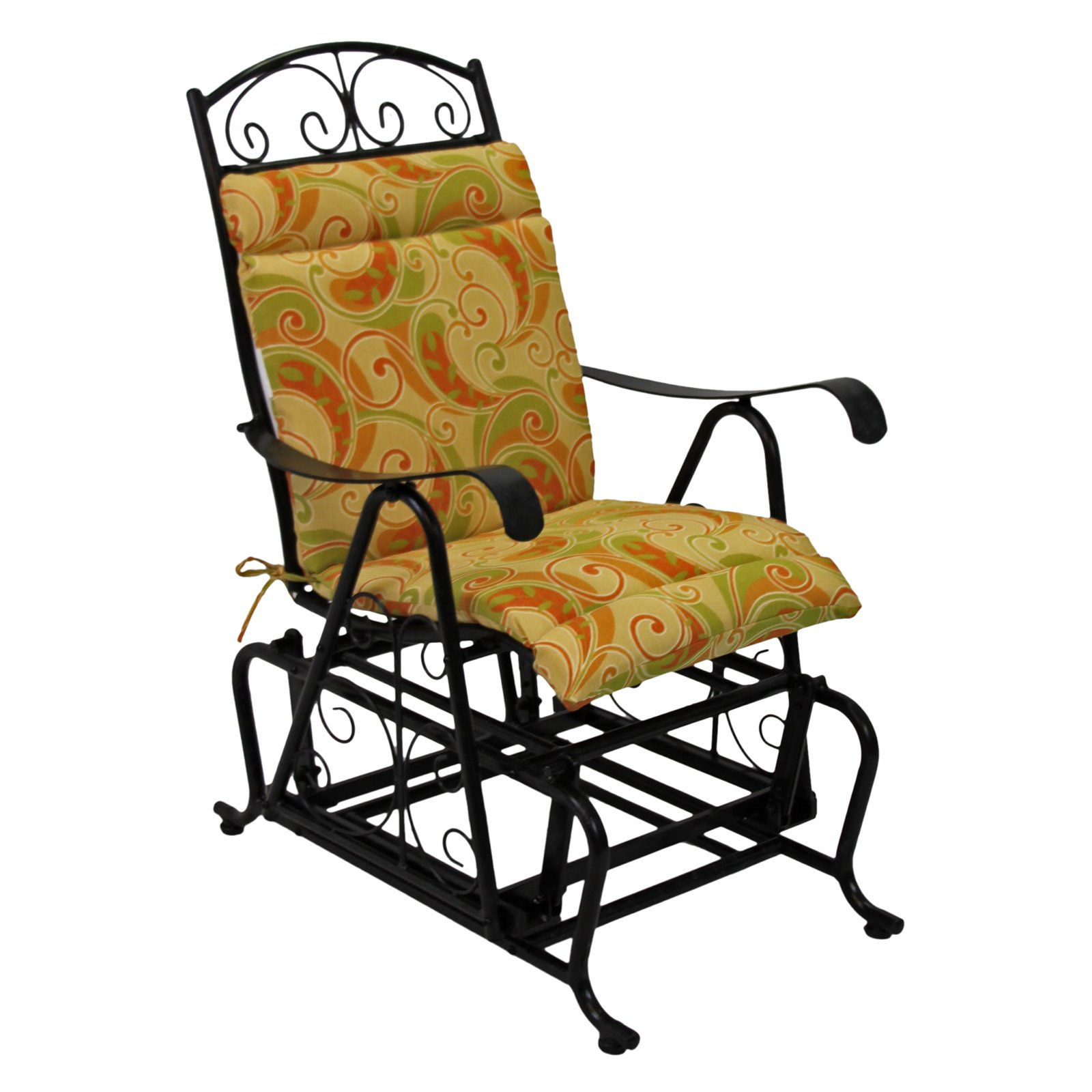 Picture of: Blazing Needles Outdoor Glider Chair Hinged Seat Amp Back Cushion Walmart Com Walmart Com
