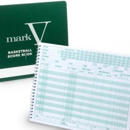 Mark V Basketball Scorebook8.5 x 11 spiral bound with hard cover By Sport Supply
