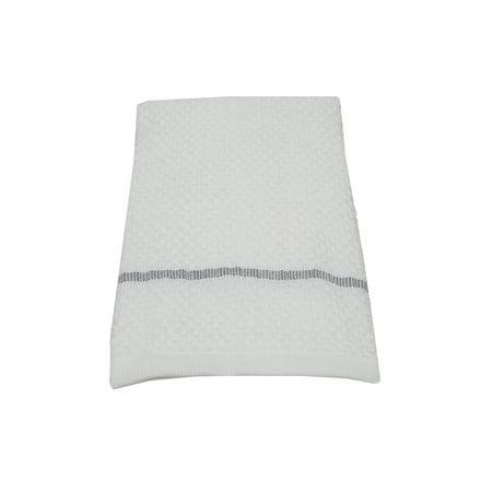 mainstays single kitchen towel - grey stripe - 100% cotton