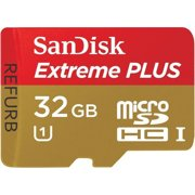 SanDisk 32GB EXTREME PLUS MicroSDHC Card Class 10  UHS-I SDSDQX-032G (Certified Refurbished)
