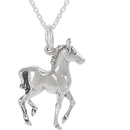 Brinley co sterling silver horse pendant 18 walmart sterling silver horse pendant 18 mozeypictures Image collections