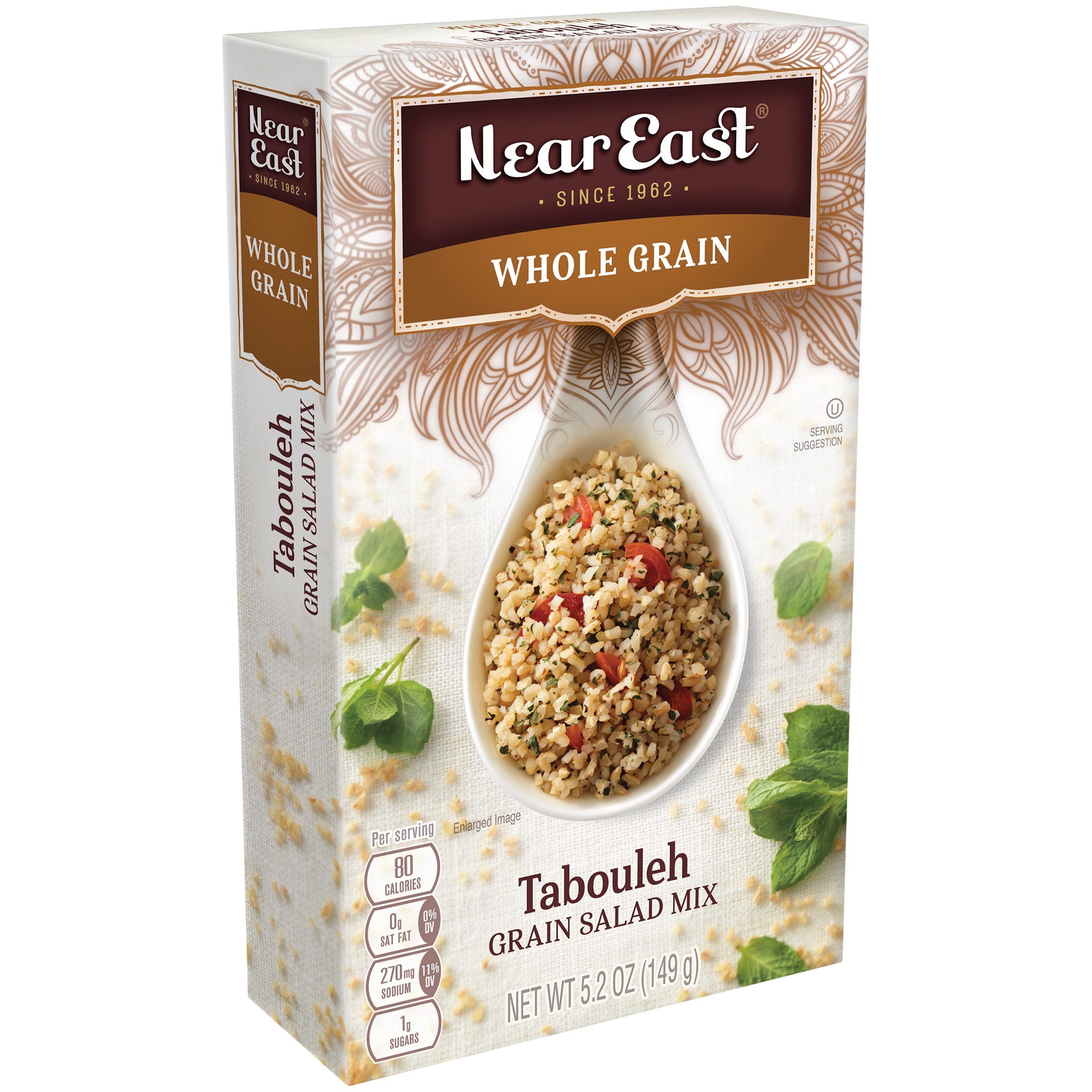 Near East Whole Grain Tabouleh Grain Salad Mix, 5.2 oz Box