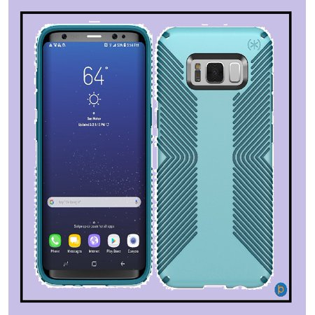 release date 4fbad 8ce53 Speck Products Presidio Grip Cell Phone Case for Samsung Galaxy S8 Plus -  Robin Egg Blue/Tide Blue