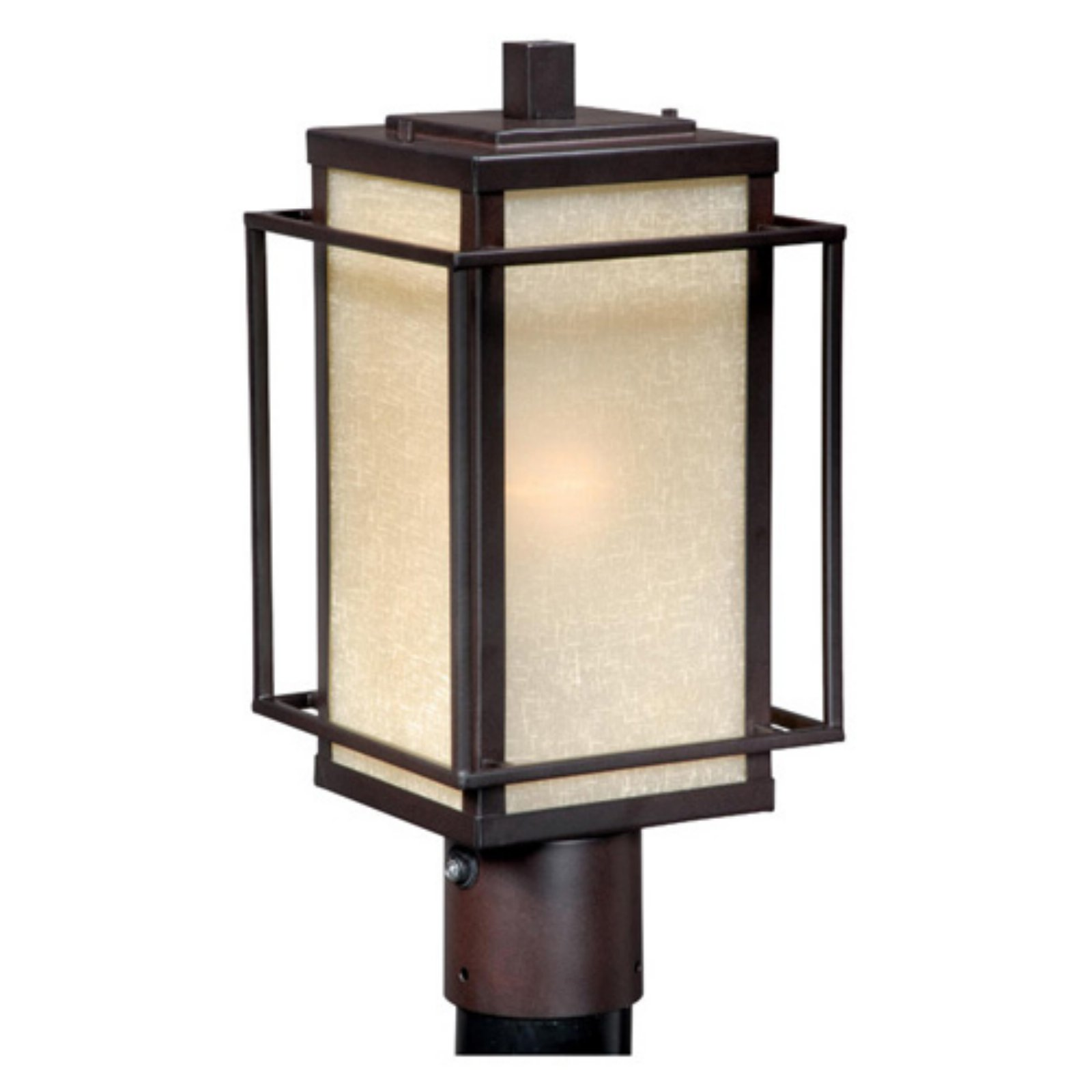 Vaxcel Robie Outdoor Post Light - 7.12W in. Espresso Bronze