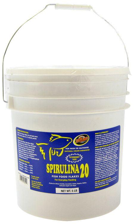 Zoo Med Aquatic Spirulina 20 Fish Food Flakes 5 lbs by Zoo Med Laboratories Inc