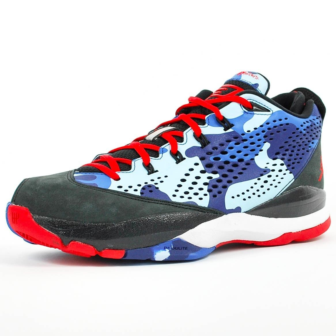 de075cd0475c5c ... best price jordan nike air jordan cp3.vii basketball shoe black sport  red chambray blue