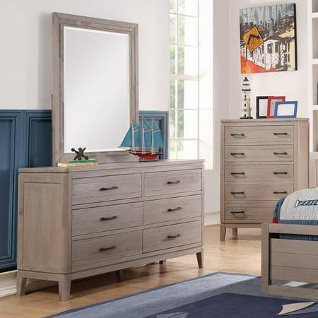 weathered gray dresser grey brown donco drawer dresser weathered gray mirror walmartcom