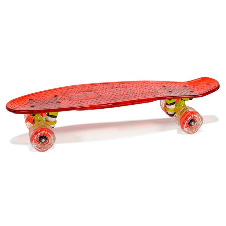 KaZAM Shorti Skateboard with Shark Wheel Jr, Red, For Ages 8 and