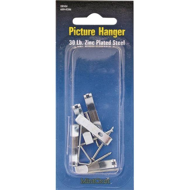 Prosource 5340948 PICture Hanger Steel with Nail, Zinc Plated 30 lbs
