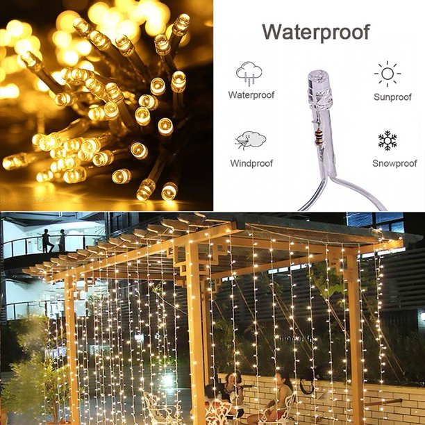 Topcobe 300 LED String Light, Outdoor Indoor Christmas Lights Fairy String Lights for Homes ...