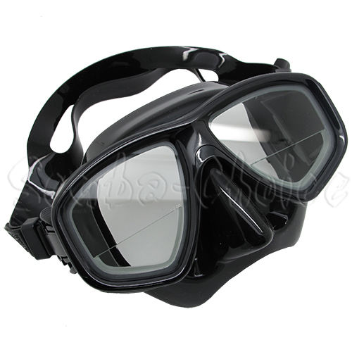 Scuba Black Dive Mask FARSIGHTED Prescription RX 1/3 Optical Lenses (+3.0)
