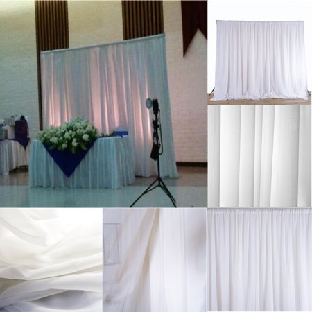 Hot Sale 95''x59'' White Sheer Sick Drapes Panels Hanging Curtains Wedding Accessories Party Decor Home Bedroom - Sick Halloween Party Ideas