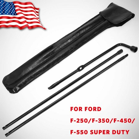 For Ford 03-07 F250 F350 F450 F550 Superduty Spare Tire Tool Kit Lug