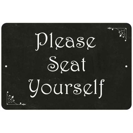 Please Seat Yourself Funny Bathroom Gift 8x12 Metal Sign 108120061034 (Do It Yourself Halloween Signs)