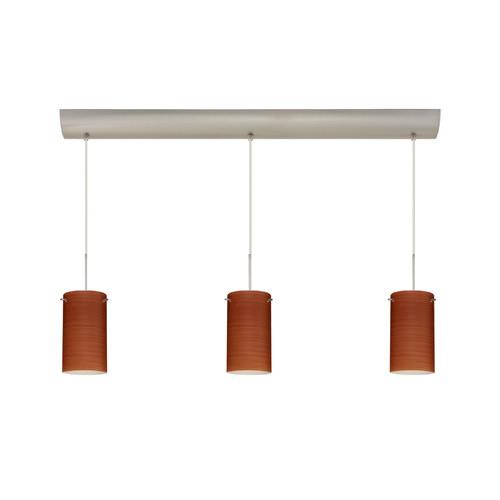 Besa Lighting Stilo 7'' 3 Light Cord Hung Mini Pendant with Bar Canopy