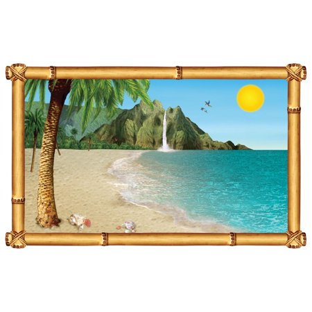 Pack of 6 Tropical Beach Insta-View Island Theme Wall Decoration 62