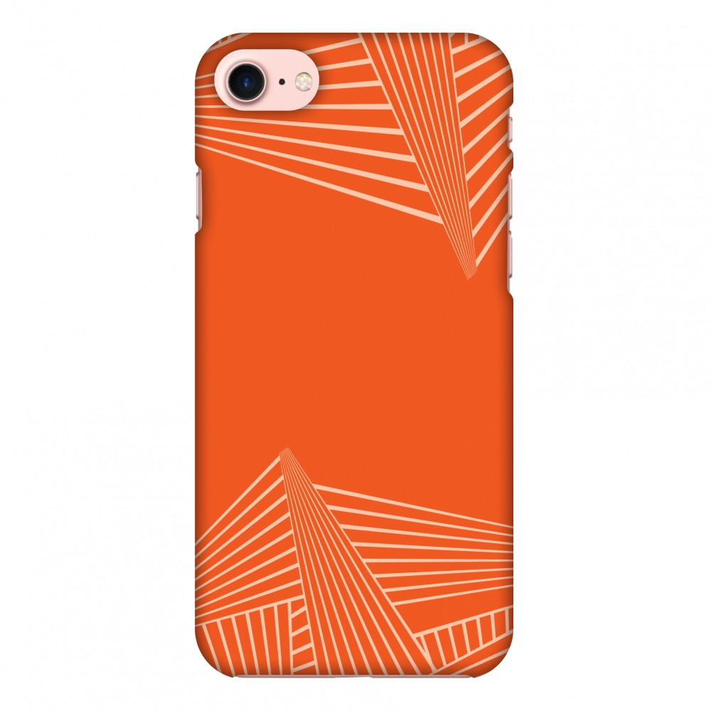 iPhone 7 Case, Premium Handcrafted Designer Hard Shell Snap On Case Printed Back Cover with Screen Cleaning Kit for iPhone 7, Slim, Protective - Carbon Fibre Redux Tangy Orange 3