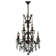 "Versailles Collection 12 Light Flemish Brass Finish and Clear Crystal Chandelier 21"" D x 32"" H Two 2 Tier Medium"