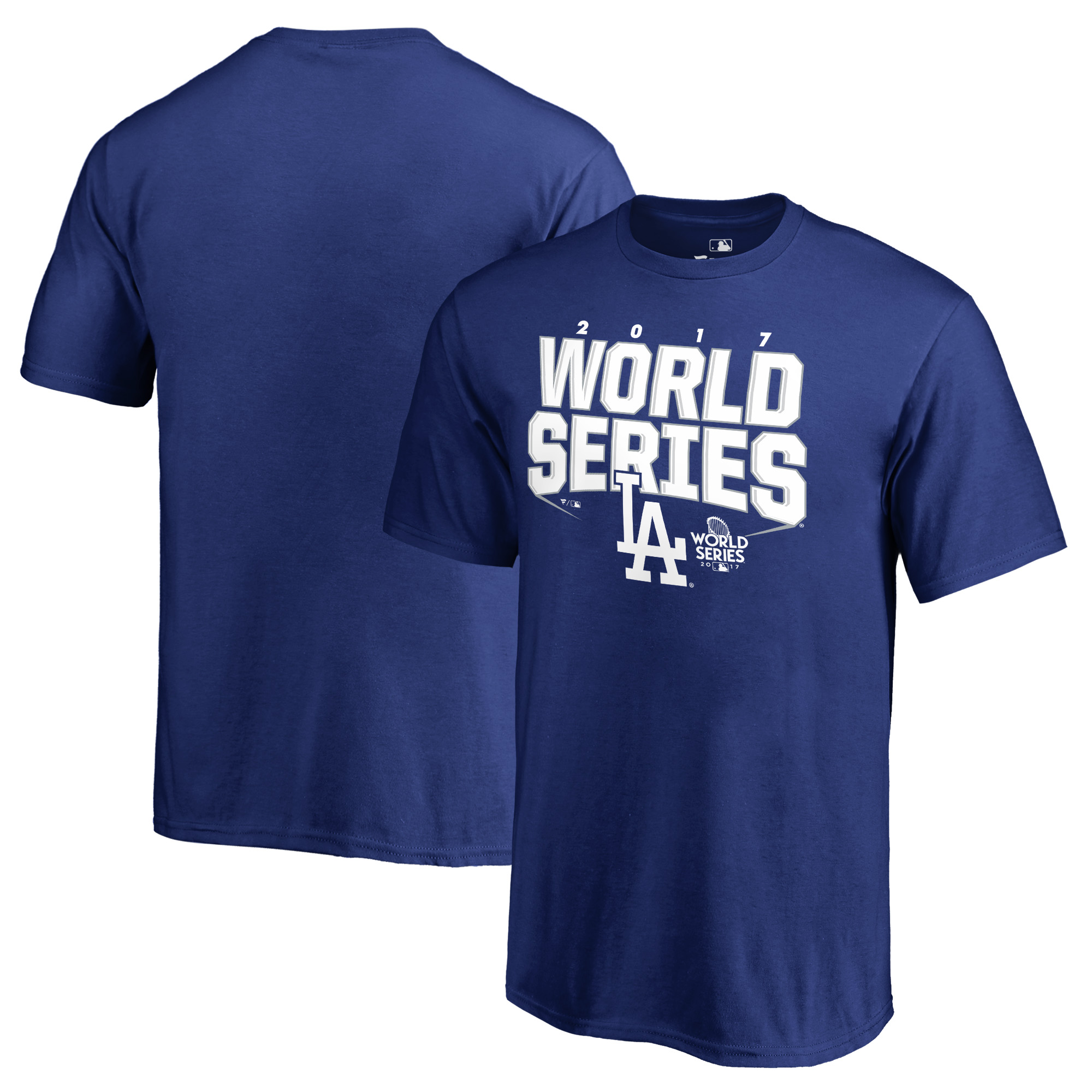 Los Angeles Dodgers Fanatics Branded Youth 2017 World Series Bound Chopper T-Shirt - Royal