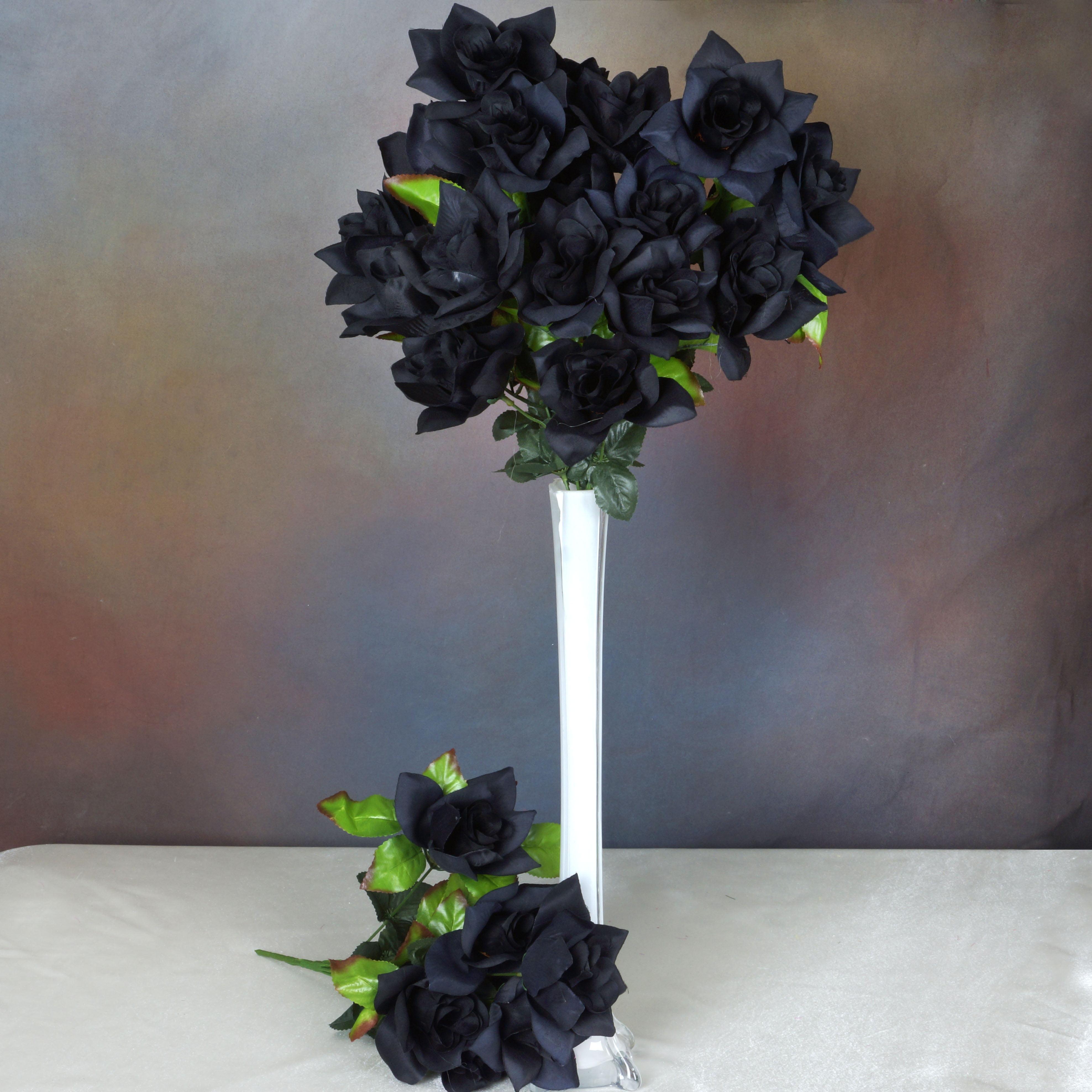BalsaCircle 168 Open Velvet Roses Flowers - DIY Home Wedding Party Artificial Bouquets Arrangements Centerpieces Bouquets