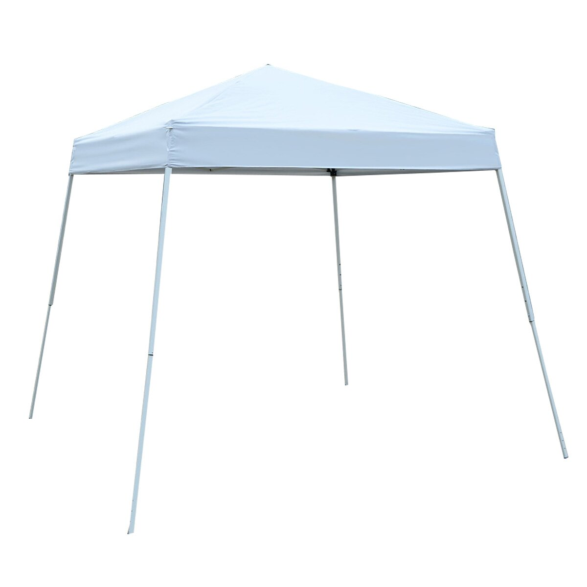 Gymax Wedding Party Canopy Shelter 8'X 8' Tent Gazebo Carry Bag White