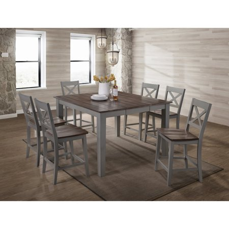 Simmons Casegoods A La Carte Counter Height Dining Table Grey