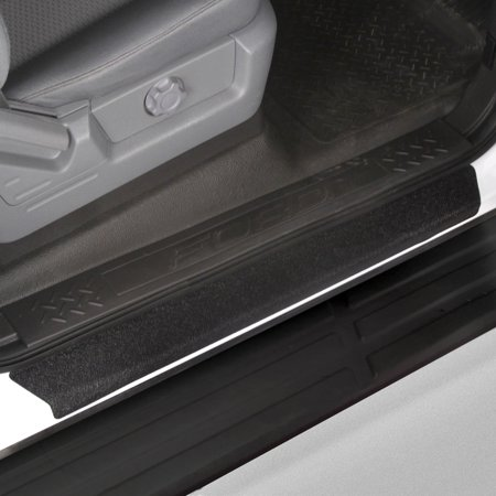 Red Hound Auto Custom Fit 2009-2014 Compatible with Ford F-150 Crew Cab SuperCrew Door Step Sill Scuff Plate Protectors Shield 4 Dr 4pc Kit 2010 2011 2012 2013 Paint Guard
