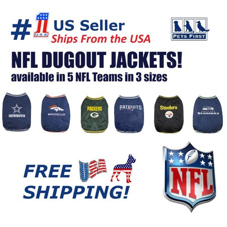 Pets First NFL Seattle Seahawks Dugout Jacket for Dogs/Cats, 3 Sizes - Seattle Seahawks Pen