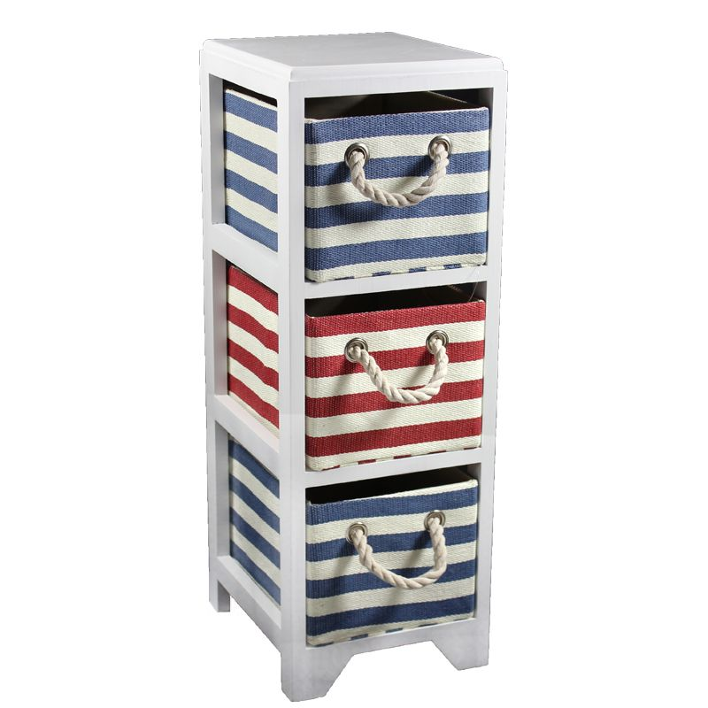 Entrada EN110422 Bins Storage 3 Drawer 2Blue 1Red