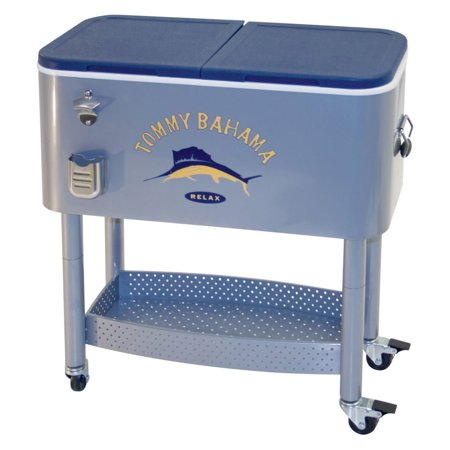 Tommy Bahama 77 Quart Steel Rolling Portable Patio Party Cooler - Party Coolers