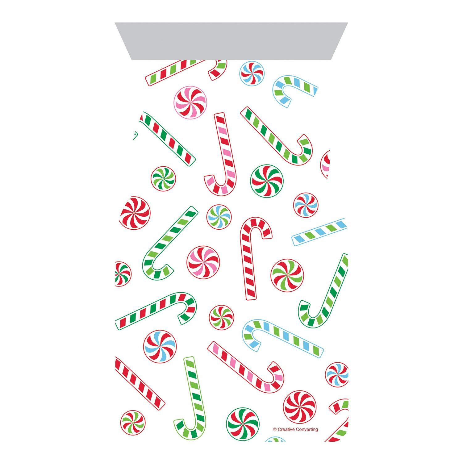 Christmas Candy 20 Ct Treat Cello Bags w/ Ties