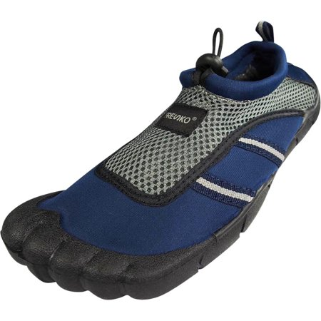 Fresko Teen Boys Water Sports Aqua Shoes with Toes, TN1016 Navy/Grey / 9 D(M) US - Party Shoes For Teenagers