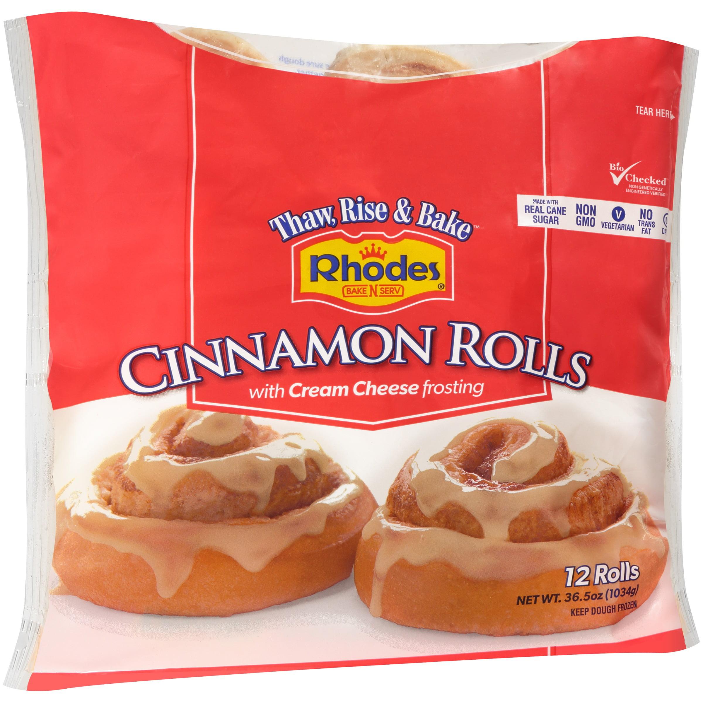 Rhodes Bake N Serv Cinnamon Rolls With Frosting Walmart Com Walmart Com