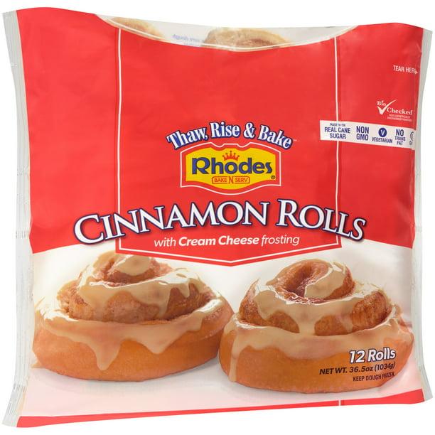Rhodes Bake N Serv Rhodes Cinnamon Rolls 12 Ea Walmart Com