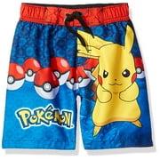 Pokemon Big/Little Boys' Pikachu Swim Trunks Board Shorts Swimwear